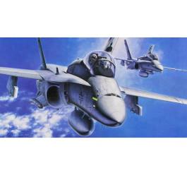 "Maquette d'avion F-18D Hornet ""Night Attack"" 1/48"