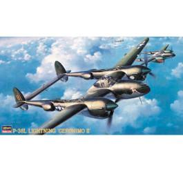 "Maquette d'avion P-38L lightning ""Geronimo II"" 1/48"
