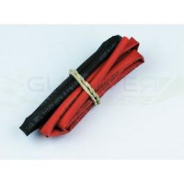 Tube thermo noir et rouge 3mm de diam. 2x50cm
