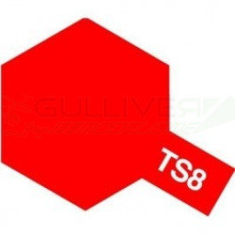 Bombes de peinture Rouge Italien Brillant TS08 Tamiya