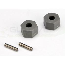 Hexagones de roues + goupilles (2) rustler/(stampede avant)