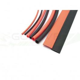 Assortiment de tubes thermoretractables 1.5/3/5/8mm 20cm rouge/noir