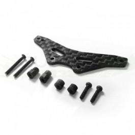 Support d'amortisseurs arrière carbone pour GT24B CARISMA