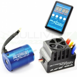 Combo brushless moteur 4350KV/esc 60A + carte de programmation Photon