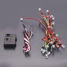 Kit feux multiples fonctions 18 LED pour voiture RC