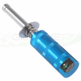 Chauffe bougie en aluminium anodisé avec voltmètre