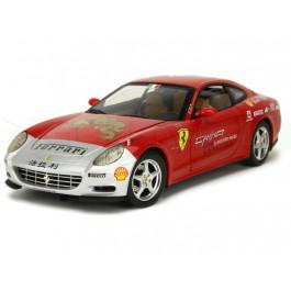 Miniature 1/18 Ferrari 612 Scarglietti rouge Tour de Chine 2005 Elite