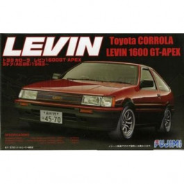 Maquette de Toyota Levin Corrola 1600 Gt- Ae86 1/24 Fujimi