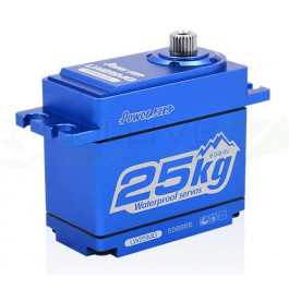 SERVO HD LW-25MG WATERPROOF ALU BLEU (25.0KG.0.14SEC)