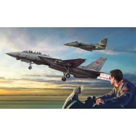 Maquette de Combo Top Gun F-14A vs A-4F 1/72