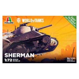 Maquette Italeri de Sherman  World of Tanks 1/72