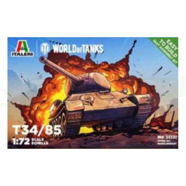 Maquette Italeri de T-34/85 World of Tanks 1/72