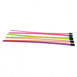 Tubes d'antennes multicolor livrés par 10