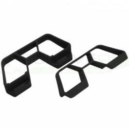 Plaques de protection noires pour Slash 4X4 Traxxas