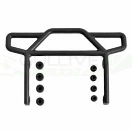 Pare choc arrière noir pour Rustler 2WD Traxxas