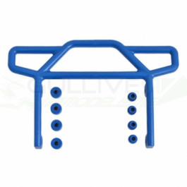 Pare choc arrière bleu pour Rustler 2WD Traxxas