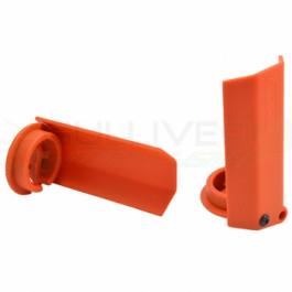Protections amortisseurs RPM pour traxxas X-Maxx Orange (2pc)