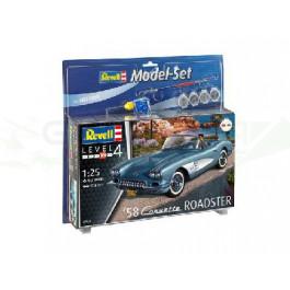 Maquette de Corvette Roadster '58 Model Set