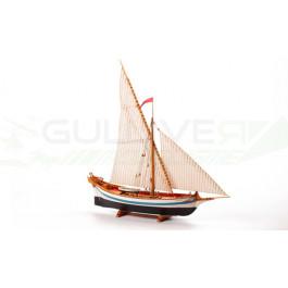 Maquette bois bateau Le Martegaou 1/80