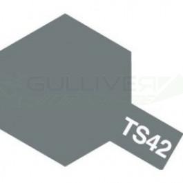 Bombes de peinture Gris Clair Métallisé TS42 Tamiya