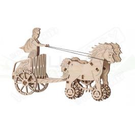 Puzzle mécanique bois Char romain