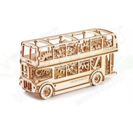 Puzzle mécanique bois Bus londonien