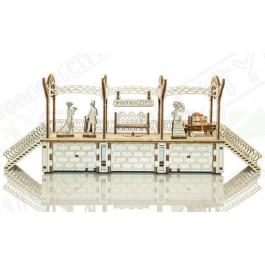 Puzzle mécanique bois Gare