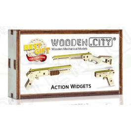 Puzzle mécanique bois Widget Canons