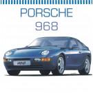 Maquette de Porsche 968 1/24