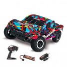Slash 4x2 Hawaiian Brushed avec Batterie et chargeur 12v Traxxas
