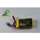 Batterie Black Lithium 800mAh 15C 2S