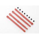 Biellettes plastique rouges avant ou arriere (4)