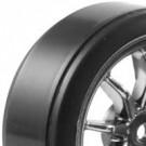 Fastrax 1/10th Street Roues / Drift Tires 10-Spoke Chrome