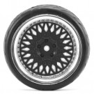 Fastrax 1/10 street/tread tyre classic black/chrome wheel