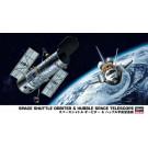 Maquette de navette spaciale Space Shuttle Orbiter & Hubble Space Telescope 1/200