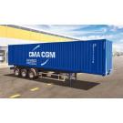 Maquette de Remorque Container 40' 1/24