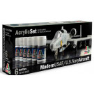 Set de peinture avion usaf/us navy Italeri