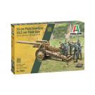 Maquette d'obusier 15cm/Canon 10,5cm Allemand 1/72