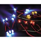 Système d'éclairage à LEDs pour voitures RC 1:10 avec boîtier de contrôle et 12 LEDs