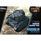 Maquette  PANZER III CHAR ALLEMAND - SERIE WORLD WAR TOON