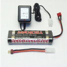 Pack batterie NIMH 7.2V 1800mAh Dean + adaptateur Tamiya + chargeur 220V