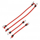Tendeurs élastiques (4pcs) - rouge