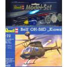 Maquette d'hélicoptère BELL OH-58D KIOWA 1/72 - Model Set