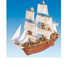 Maquette de bateau bois BOUNTY 1/50