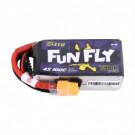 Batterie LI-PO Tattu Funfly 1300mAh 14.8v 100c 4s avec adaptateur XT60