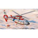 """Maquette d'hélicoptère  SA 365N """"DAUPHIN"""" 2 de sauvetage 1/48"""