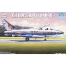 Maquette de NORTH AMERICAN F-100F SUPER SABRE - SPECIAL FRANCE DJIBOUTI 1/48