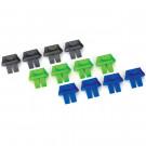 Connecteur indicateurs de charge batterie bleus, gris et verts