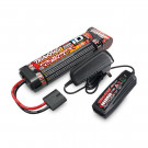 Pack chargeur pour accu 7,2/8,4V NiMh + batterie NIMH 3000mah en long Traxxas