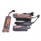 Pack chargeur 12v + alimentation 220v/12v + batterie NIMH 3000mah en long Traxxas